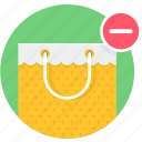 bag, buy, remove, shop, shopping icon