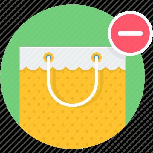 bag, buy, remove, shop, shopping icon