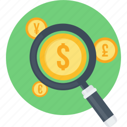 business, dollar, find, locate, money, search icon