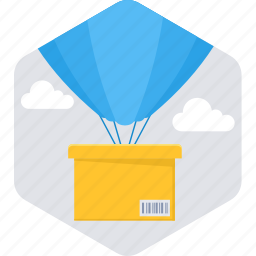 air ballon, delivery, package, shipping, transport, transportation icon