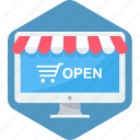buy, cart, open, shop, web, website icon