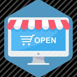 buy, cart, open, shop, web, website icon