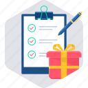 clipboard, items, list, shop, shopping icon