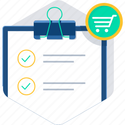 checklist, clipboard, itemlist, items, list, tasks icon