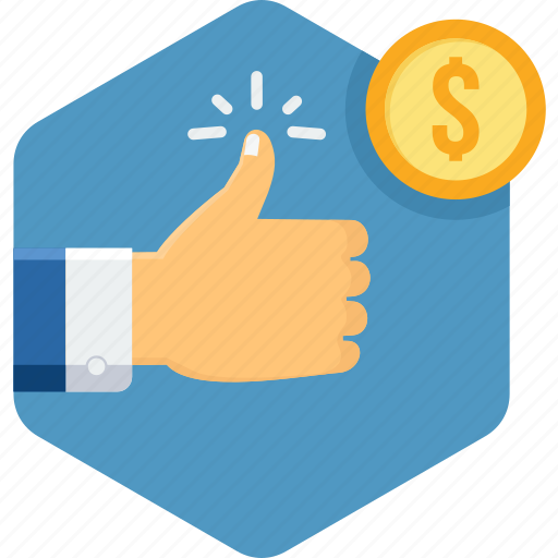 Like, money, thumb, thumbs up icon - Download on Iconfinder
