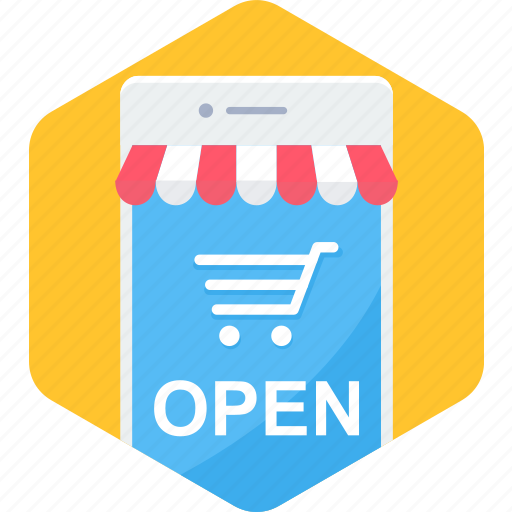 Cart, mobile, open, shop, ecommerce, shopping, smartphone icon - Download on Iconfinder