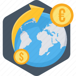 convert, currency, money, online, payment, transfer icon
