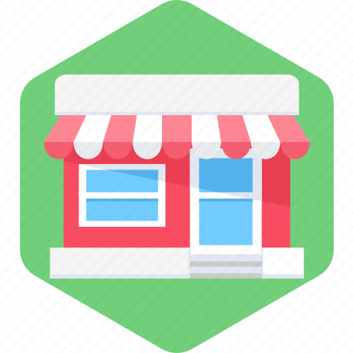 market, open, shop, shopping, store icon
