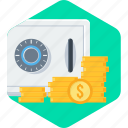 bank, locker, money, safe icon