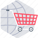 buy, cart, ecommerce, international, online, shop, shopping icon