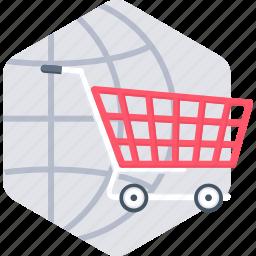 buy, cart, ecommerce, international, online, shop, shopping icon