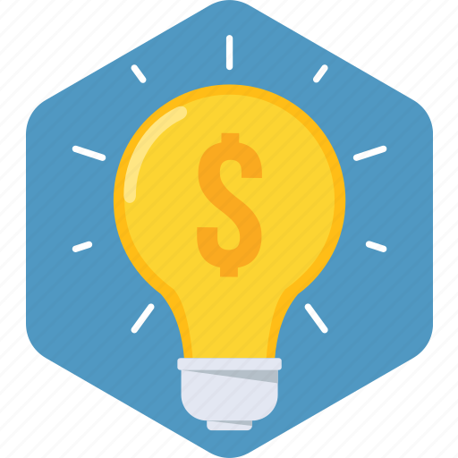 bulb, idea, lamp, light, money icon