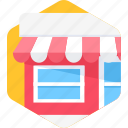 location, market, shop, store icon