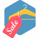 hanger, price, sale, shopping, sign, tag icon