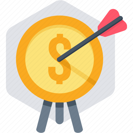 bullseye, dartboard, focus, revenue, shooting, target icon