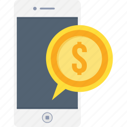 cash, finance, mobile, money, payment, phone, smartphone icon