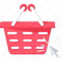 basket, buy, click, ecommerce, internet, online, web icon