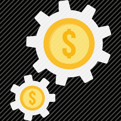 funds, manage, management, money, profit, setting, settings icon