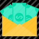 envelope, payment, bank, cash, finance, money, online