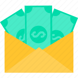 bank, cash, envelope, finance, money, online, payment icon