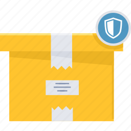 locked, parcel, product, safe, secure, security, shield icon