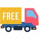 cargo, delivery, free, logistic, logistics, shipment, truck icon