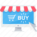 buy, click, online, shop, shopping, website icon