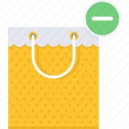 bag, buy, item, items, removed, shop, shopping icon