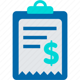 bill, expense, income, list, payment, receipt icon