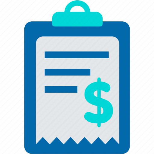 Bill, expense, income, list, payment, receipt icon Expense Icon Png