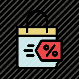 bag, buy, deal, discount, shop, shopping, shopping bag icon