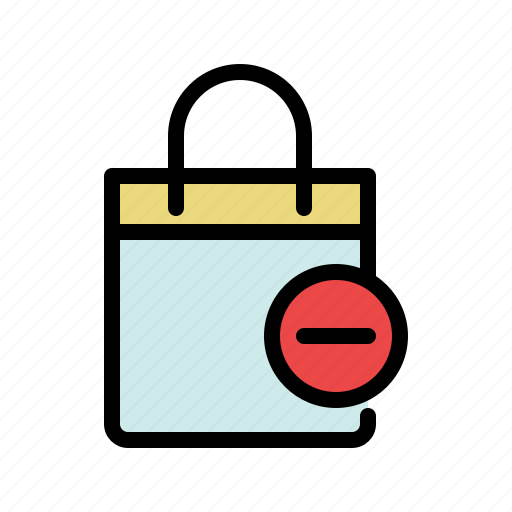 bag, buy, remove product, shop, shopping, shopping bag icon