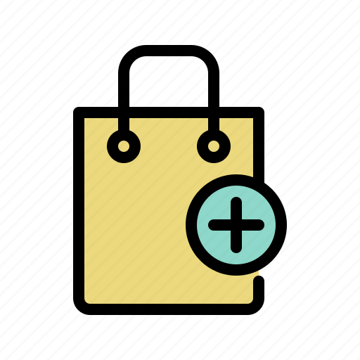 add product, bag, buy, shop, shopping, shopping bag icon