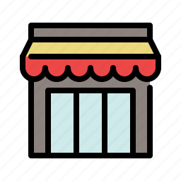 building, market, shop, shopping, store, store front icon