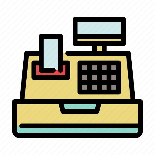 cash register, pay, payment, register, shopping icon