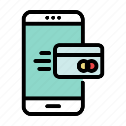 checkout, credit card, fast, mobile, payment, shopping, smartphone icon