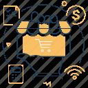 online shopping, mobile app, order, smartphone