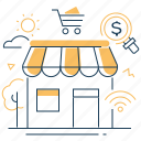 cart, onlne, shop, store icon