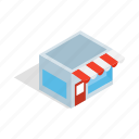 business, concept, illustration, isometric, sale, shop, store icon