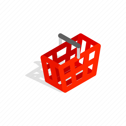 cart, handle, interest, isometric, new, package, shopping icon