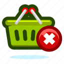 basket, buy, cart, delete, ecommerce, money, remove, shop, shopping icon