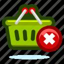 basket, buy, cart, delete, ecommerce, money, remove, shop, shopping icon