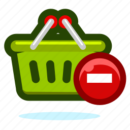 basket, buy, cart, delete, ecommerce, remove, shop, shopping, webshop icon
