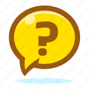 enquiry, help, info, information, question, support icon