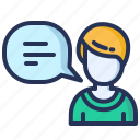 assistant, bubble, consulting, support icon