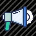 marketing, media, megaphone, promotion icon