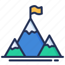 flag, hills, mission, mountains icon
