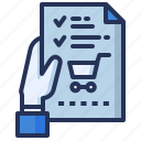 check, grocery, list, wish icon