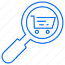 business, cart, search, seraching, shopping icon