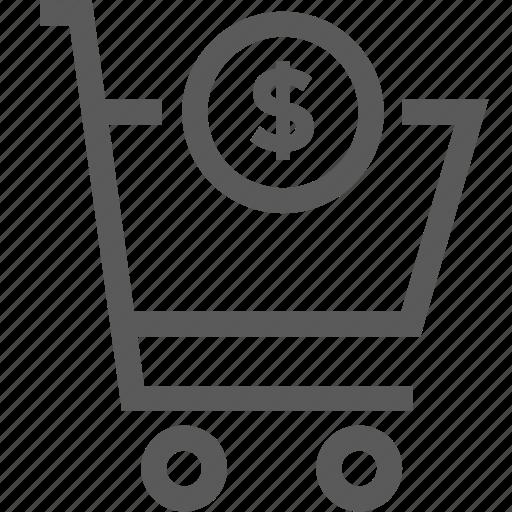 buy, cart, doaar, market, shop, shopping cart, shopping trolley icon
